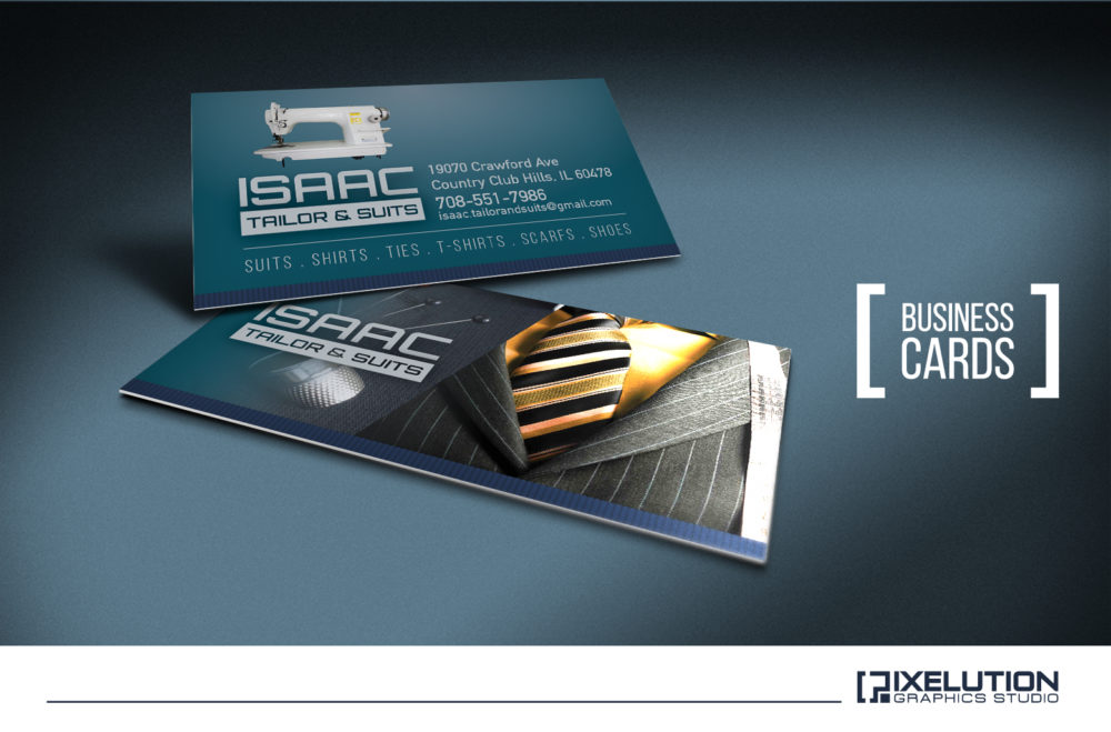 Issac Tailor Business Cards – Pixelution Graphics
