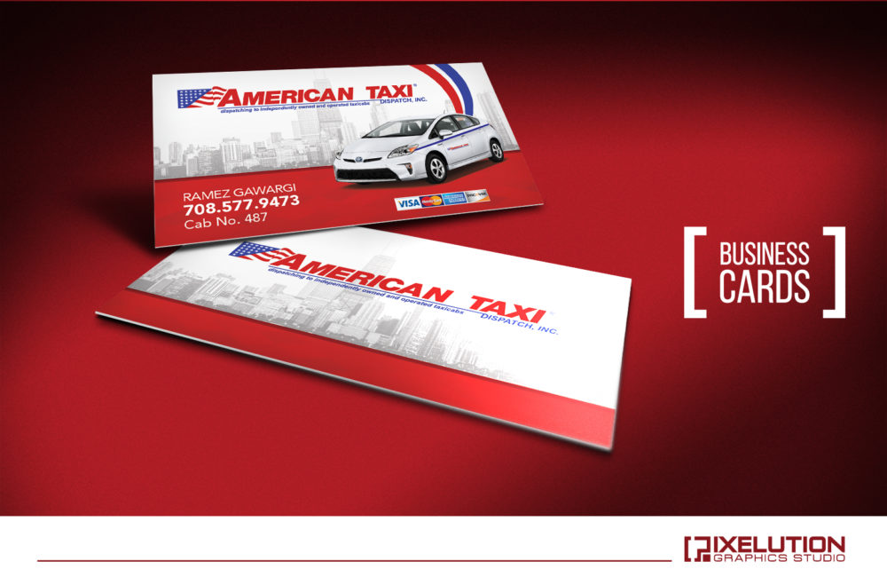 american taxi business cards - Taxi Business Cards