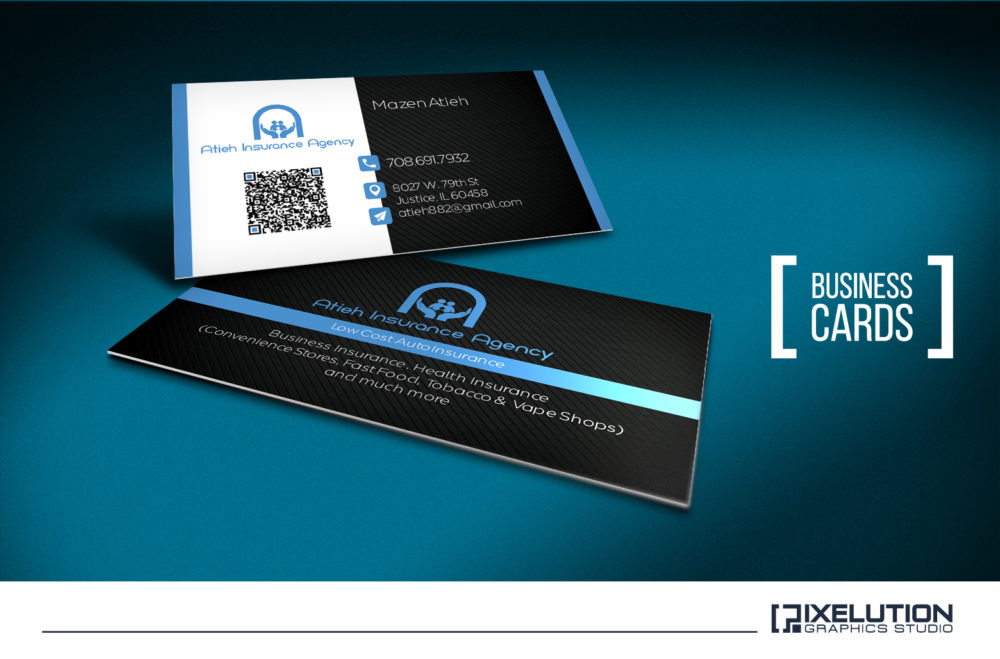 Atieh insurance business cards pixelution graphics atieh insurance business cards colourmoves