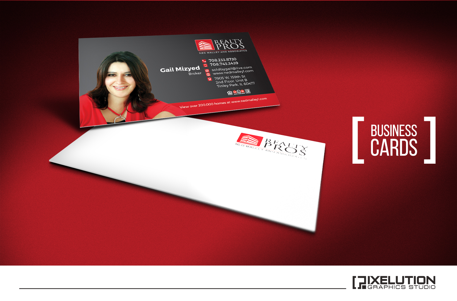 Pixelution graphics realty pros real estate read more business cards reheart Choice Image