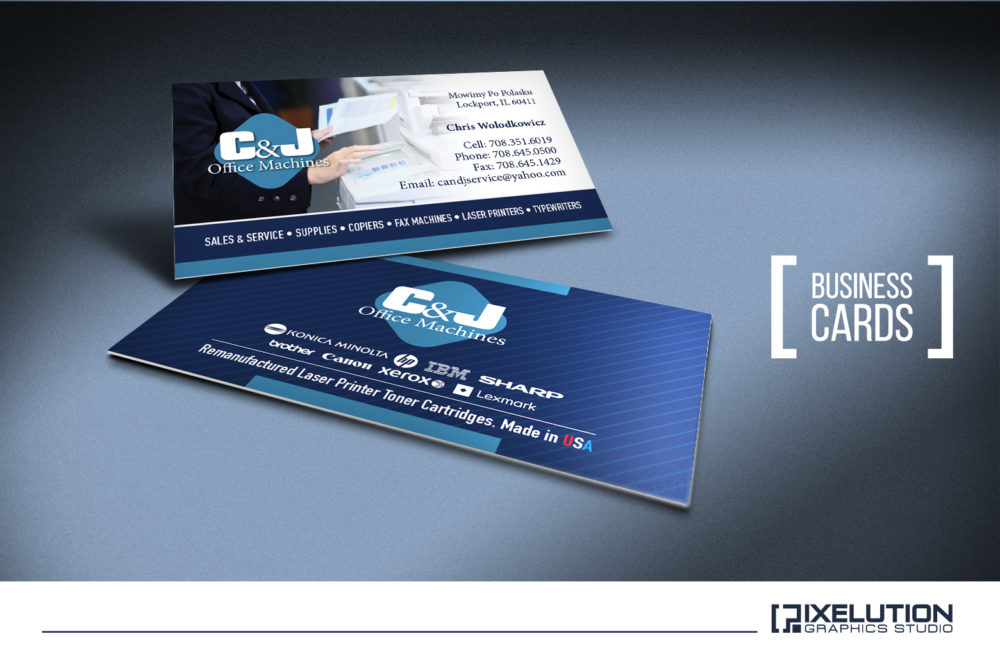 C&J Office Machine Business Cards – Pixelution Graphics
