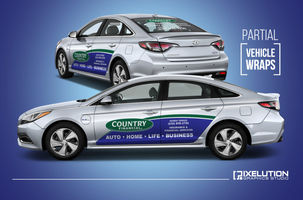 Country Financial Car Insurance >> Country Financial Partial Vehicle Wraps Pixelution Graphics